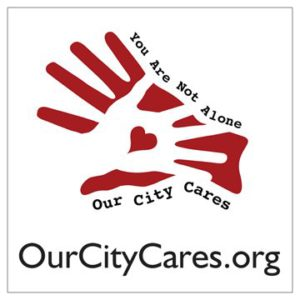 Our City Cares Window Decal